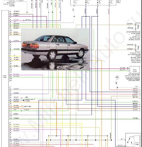1985 Audi 5000s System Wiring Diagram Free Download