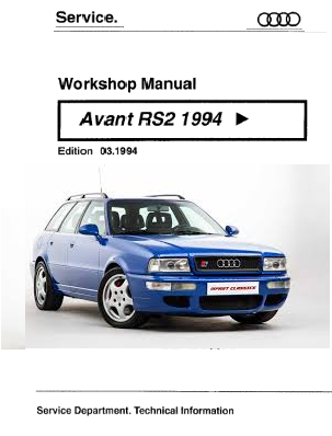 1994 Audi rs2 Avant Service Repair Manual Free Download