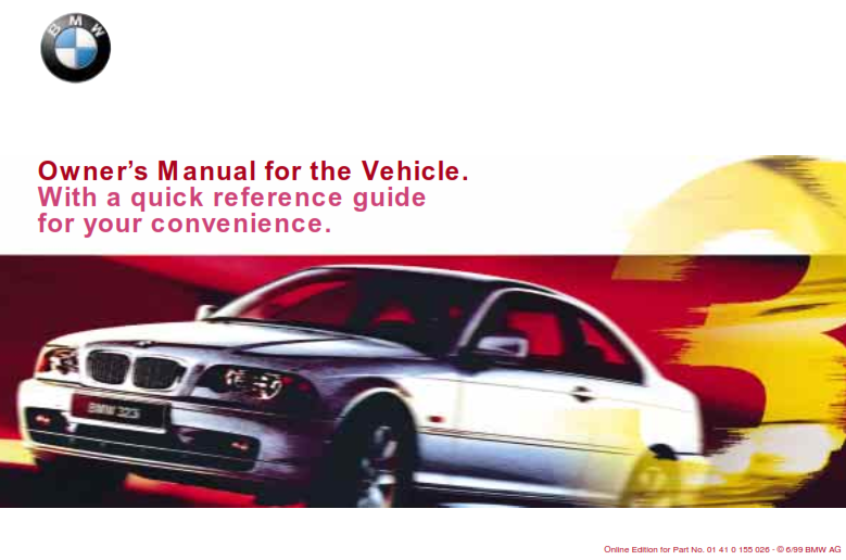 2000 Bmw 328ci Coupe Owners Manual With Quick Reference Guide Free Download