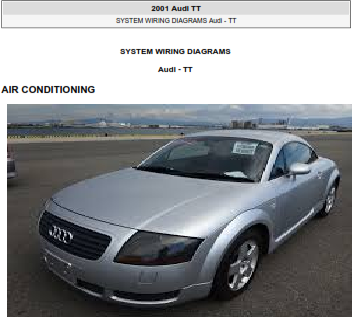 2001 Audi Tt Electrical Wiring Diagram Free Download