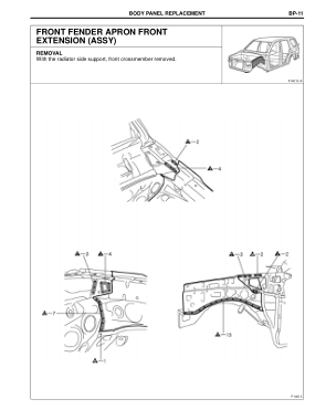 2003-2008 TOYOTA 4Runner Repair Manual, Back Door Opening Trough (Assy)
