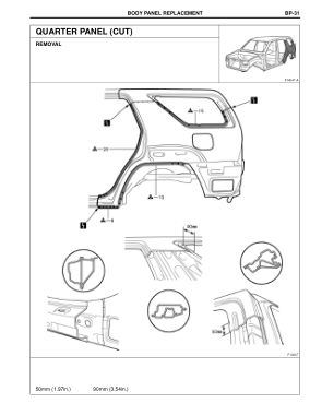 2003-2008 TOYOTA 4Runner Repair Manual, Quarter Panel (Cut)
