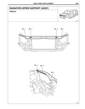 2003-2008 TOYOTA 4Runner Repair Manual, Radiator Upper Support (Assy)