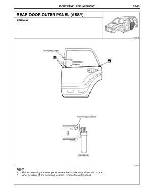 2003-2008 TOYOTA 4Runner Repair Manual, Rear Door Outer Panel (Assy)