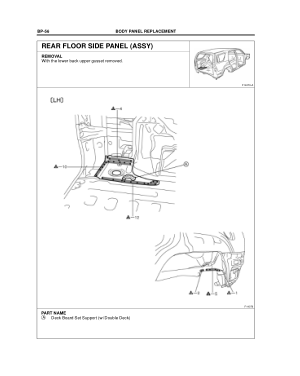 2003-2008 TOYOTA 4Runner Repair Manual, Body Dimensions-Engine Compartment