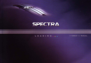 2004 KIA Spectra Owners Manual