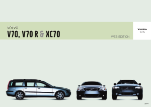 2004 Volvo V70 Owners Manual in Danish