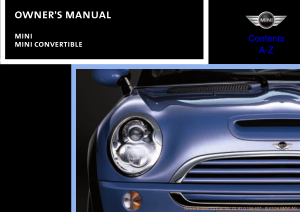 2005 Mini USA CONVERTIBLE Owners Manual All Models