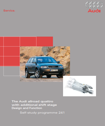 2005 Audi a6 Allroad Quattro Self Study Programme Service Repair Manual Free Download