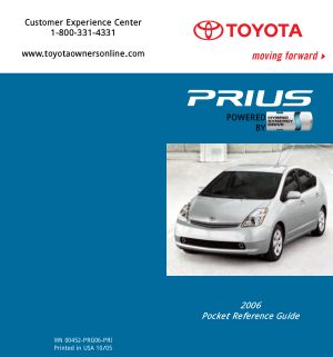 2006 Toyota Prius Pocket Reference Guide