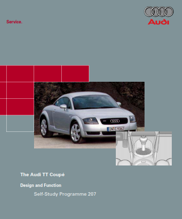 2006 Audi Tt Coupe Design And Function Self Study Programme Service Repair Manual Free Download