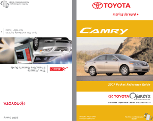 2007 Toyota Camry Pocket Reference Guide