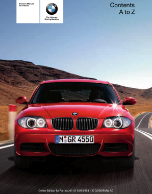 2008 BMW 128i Convertible Owners Manual