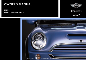 2008 Mini USA CONVERTIBLE Owners Manual