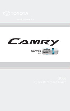 2008 Toyota Camry Hybrid Quick Reference Guide
