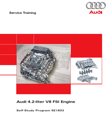 2008 Audi a6 4.2 Liter v8 Fsi Engine Self Study Progam Service Repair Manual Free Download