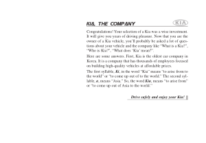 2009 KIA Spectra Owners Manual