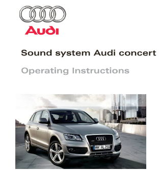 2009 Audi Sound System Concert Operating Instructions