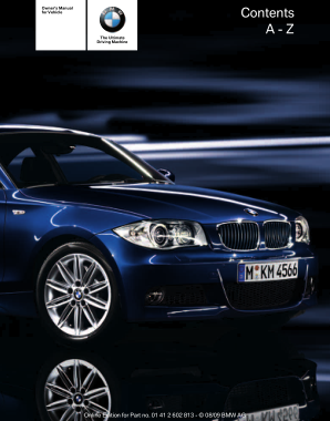 2010 BMW 135i Coupe without iDrive Owners Manual
