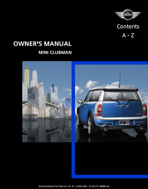 2010 Mini USA CLUBMAN Owners Manual Navi
