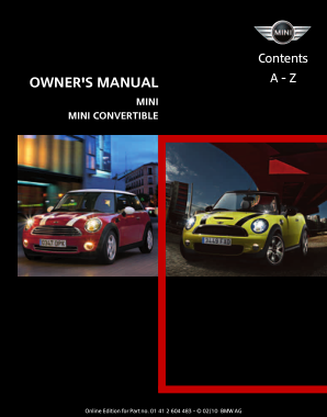 2010 Mini USA CONVERTIBLE Owners Manual