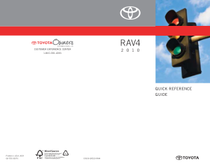 2010 Toyota RAV4 Quick Reference Guide