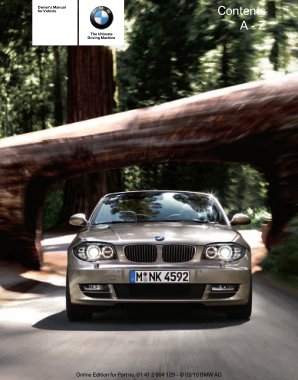 2011 BMW 128i Convertible Owners Manual