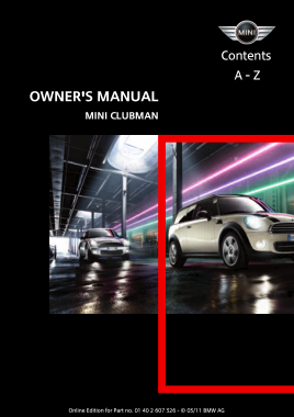 2011 Mini USA CLUBMAN Owners Manual