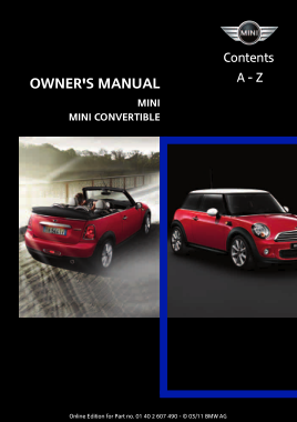 2011 Mini USA CONVERTIBLE Owners Manual