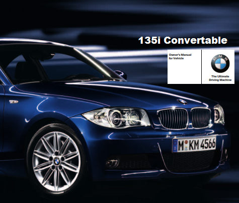 2011 Bmw 135i Convertible Owners Manual Free Download