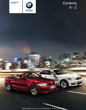 2012 BMW 128i Coupe Owners Manual