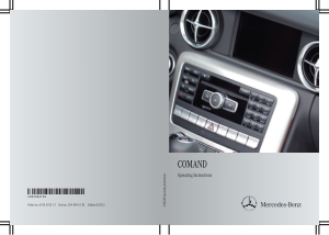 2012 Mercedes Benz E Class Sedan COMAND Operator Instruction Manual