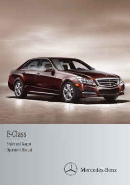 2012 Mercedes Benz E Class Sedan Wagon Operator Manual