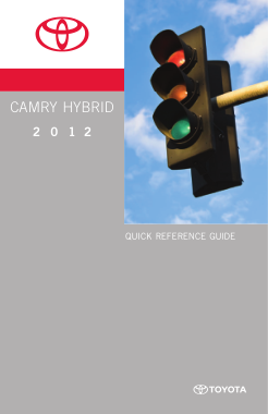 2012 Toyota Camry Hybrid Quick Reference Guide