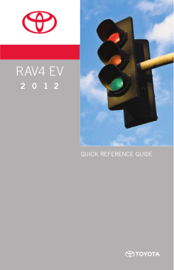 2012 Toyota RAV4 EV Quick Reference Guide