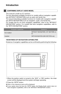 2012 Toyota Prius V Universal Display Audio System Owners Manual Introduction Free Download
