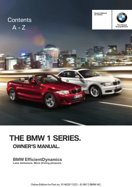 2013 BMW 128i Convertible Owners Manual