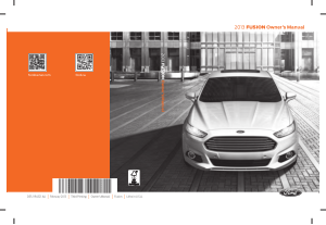 2013 Ford Fusion Owners Manual
