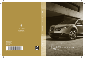 2013 Lincoln MKX Owner Manual