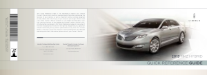 2013 Lincoln MKZ Hybrid Quick Reference Guide