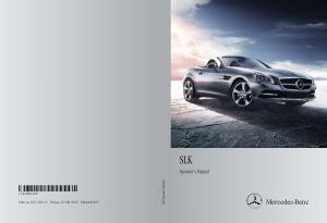 2013 Mercedes Benz SLK Operator Manual