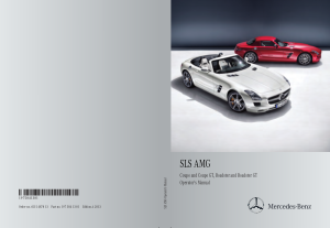 2013 Mercedes Benz SLS Operator Manual
