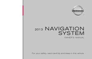 2013 Nissan Altima LC2 Navigation Manual
