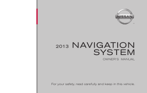 2013 Nissan JUKE LC1 Navigation Manual