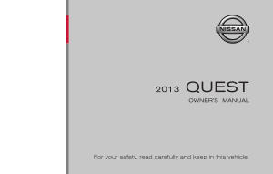 2013 Nissan QUEST Owner Manual