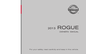 2013 Nissan ROGUE Quick Reference Guide