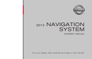 2013 Nissan Z ROADSTER 08IT Navigation Manual
