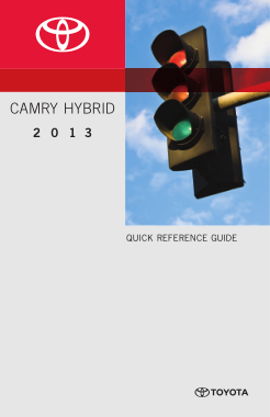 2013 Toyota Camry Hybrid Quick Reference Guide