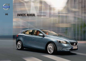2013 Volvo V40 Owners Manual
