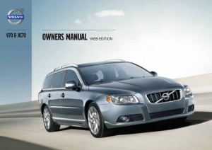 2013 Volvo V70 Owners Manual